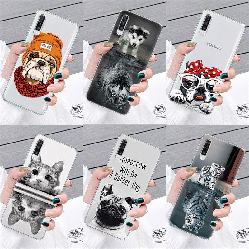 Cute Animal for Samsung A51 A71 A40 A50 A70 S10 S10e S20 Plus J5 J7 for Coque iPhone 11 Pro Max XS XR X 7 8 6 6S Plus Case Bag