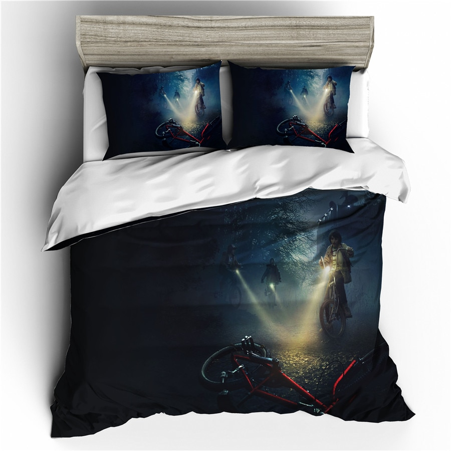 A Bedding Set 3D Printed Duvet Cover Bed Set Stranger Things Home Textiles for Adults Bedclothes with Pillowcase #SNT14