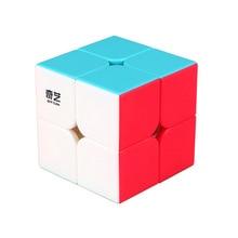 Droxma Qiyi Qidi S 2x2 Zauberwürfel Stickerless MoFangGe MFG 2x2x2 farbe Geschwindigkeit Geschenk puzzle Für kinder