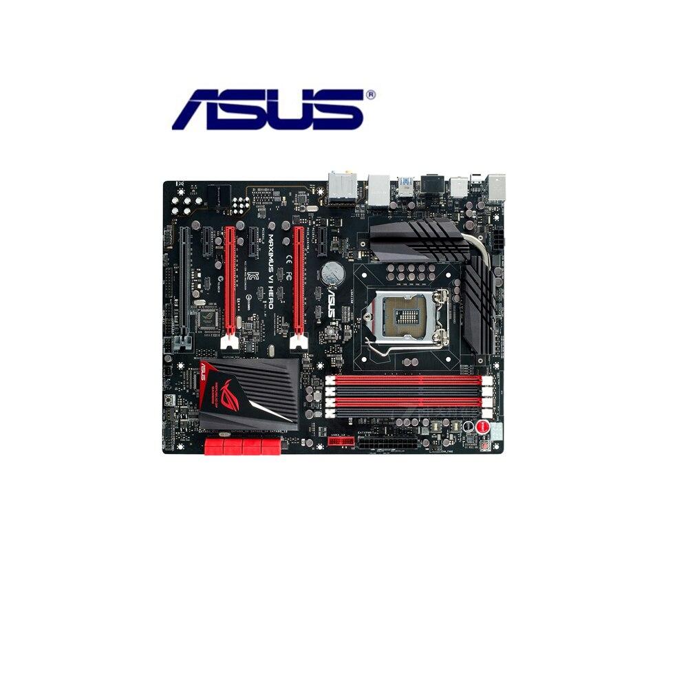 Asus Maximus VI héroe placa base de escritorio Z87 Socket LGA 1150 i3 i5 i7 DDR3 32G ATX UEFI BIOS Original placa base usada gran oferta