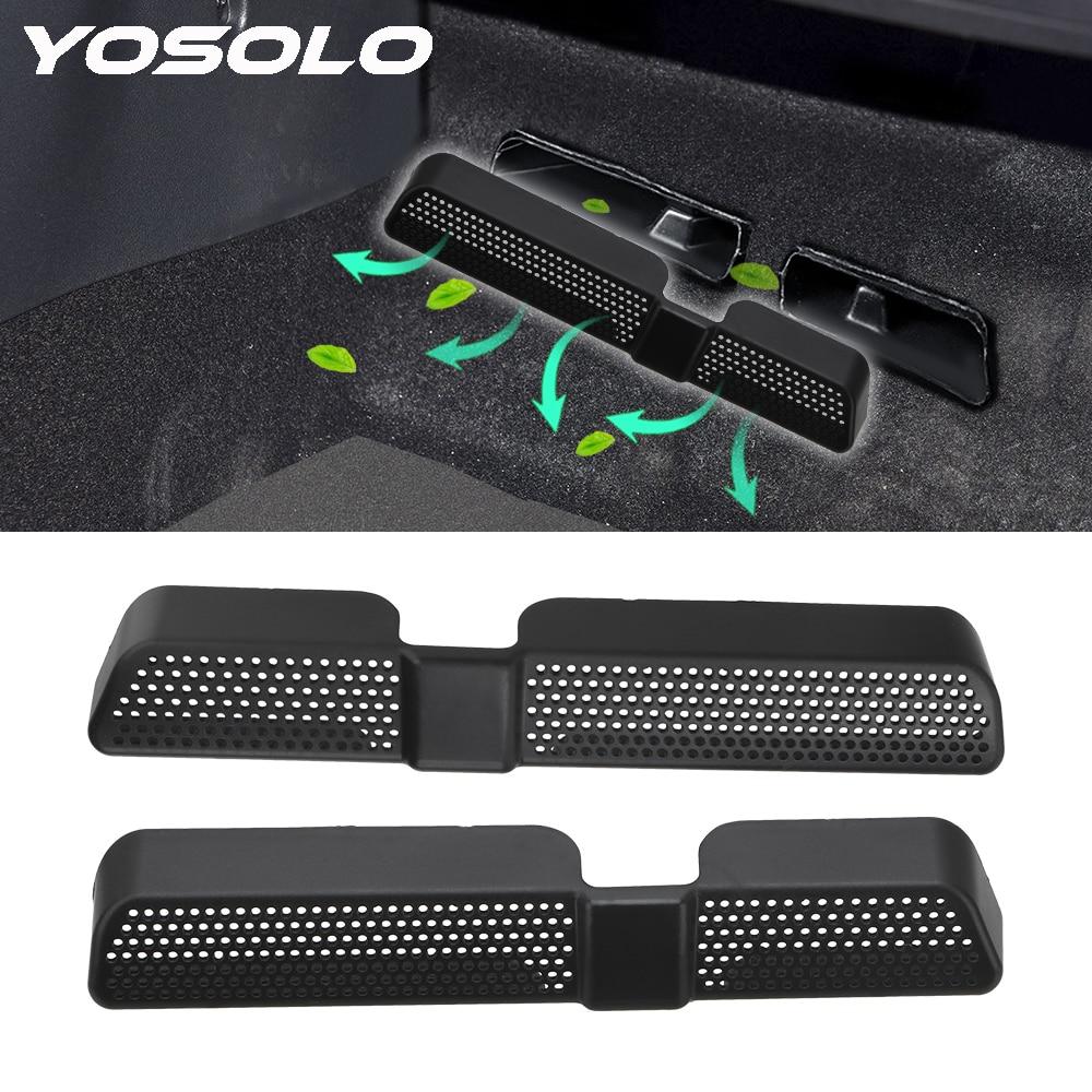 YOSOLO 2 unids/set asiento trasero a prueba de polvo bajo ventilación cubierta de ventilación de coche tapa de salida de aire para Skoda Kodiaq 2016 2017 2018