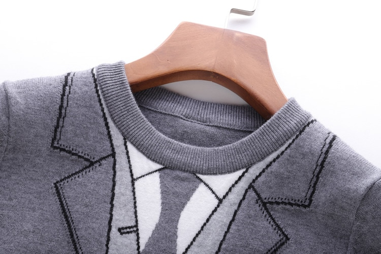 TBB four-bar knitted top women's long-sleeved sweater autumn new 2019 net red pullover thin fake two-piece women enlarge