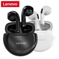 original lenovo ht38 wireless earphones tws 9d stereo sound touch control gaming bluetooth compatible 5 0 earbuds with mic