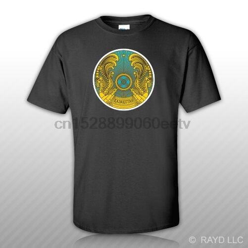 Tee Shirt Free Kazakhstani Emblem T-Shirt KAZ KZ Sticker Kazakhstan flag