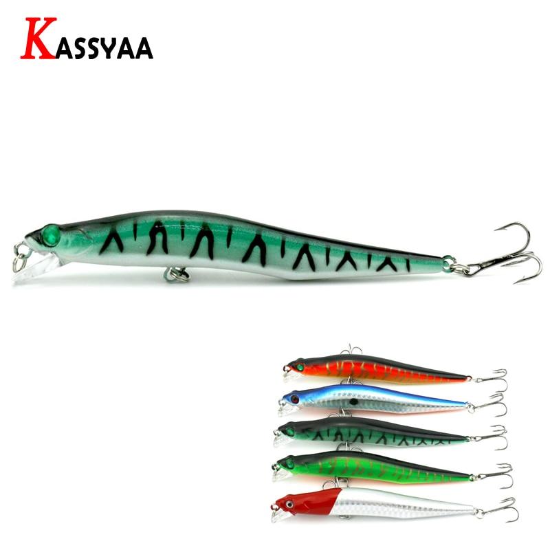 1 unidad de señuelo de pesca duro pececillo con láser 12cm 10g #6 anzuelos agudos lápiz de Bajo negro calidad Jerkbait señuelo de pesca de plástico Mino