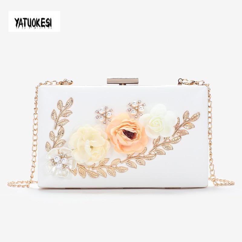 Bolso de noche de moda para mujer, bolso de mano de noche pequeño con cuentas de flores, bolso de hombro con cadena, bolso de mano con perlas, bolso de hombro
