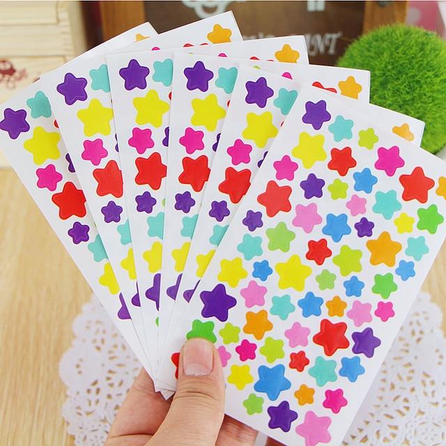 6 Sheets/lot Cute Kawaii Sticker For Photo Album Decoration Lovely Heart 4