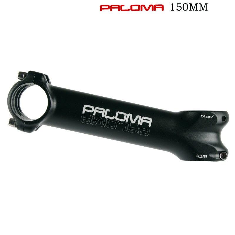 Paloma bicicleta stem ultraleve 12 graus 150mm extra longo comprimento mtb estrada haste para garfo 28.6 31.8mm mountain bike preto tira