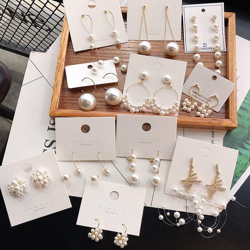 Pendientes coreanos con colgante de perlas simples para mujer 2020, nuevos y bonitos pendientes con forma de corazón para niñas, accesorios de joyería a la moda para mujeres