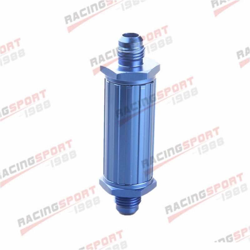 AN-6 AN6 6AN azul anodizado palanquilla filtro de combustible magnético 30 micrones