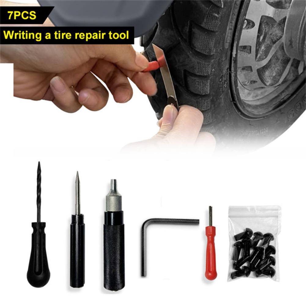 Комплект для ремонта автомобильных шин, вакуумная Пробивка с щупом, для быстрого ремонта шин мотоциклов и велосипедов