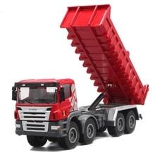 150 métal alliage modèle ingénierie véhicule camion à benne basculante modèle enfants éducation précoce son et lumière arrière jouet enfants anniversaire