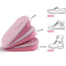 EVA Memory Foam solette invisibili con altezza aumentata per scarpe da donna suola interna inserto per scarpe solette per il sollevamento del tallone Comfort