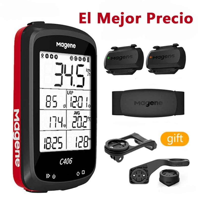 Magene C406 Cycling Computer GPS Bike Counter Strava Wireless Road MTB Speedometer Bicycle Odometer Ant+ H64 S3+ Cadence Sensor