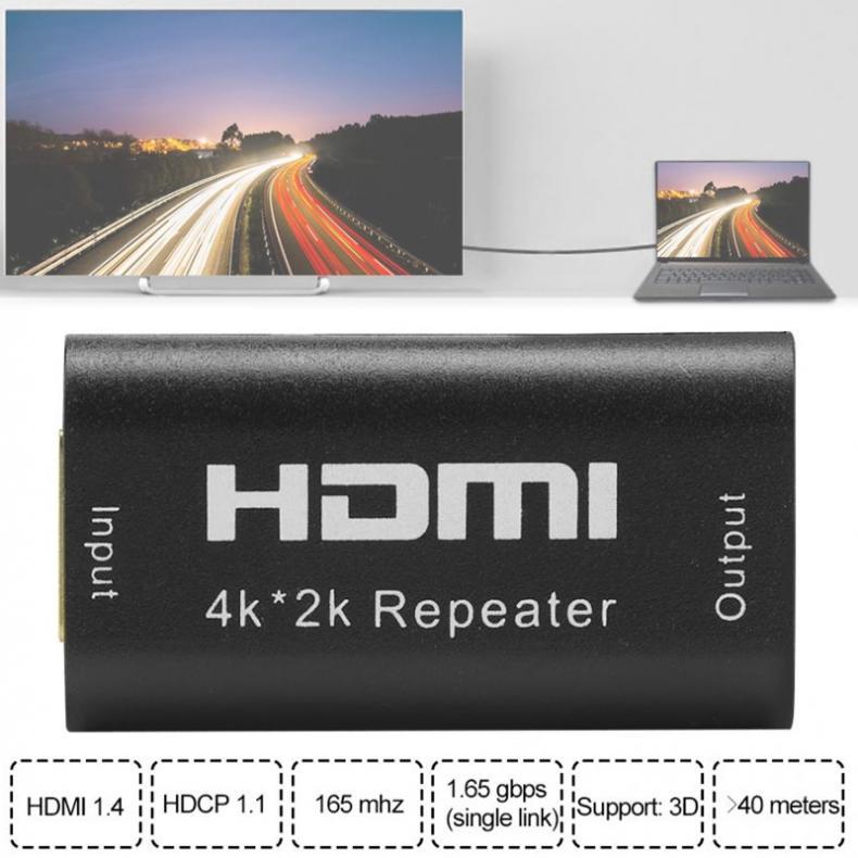 De alta calidad Mini 130FT 40M Full HD 1080P 1,65 Gbps extensor HDMI de repetición Booster amplificador más de 40m con par trenzado