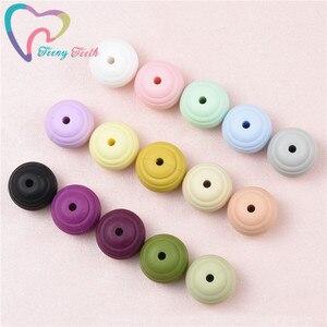 Teeny Teeth 200 PCS Round Spiral Silicone Beads Food Grade Silicone Teething Beads DIY Jewelry Making Beehive Nursing Beads