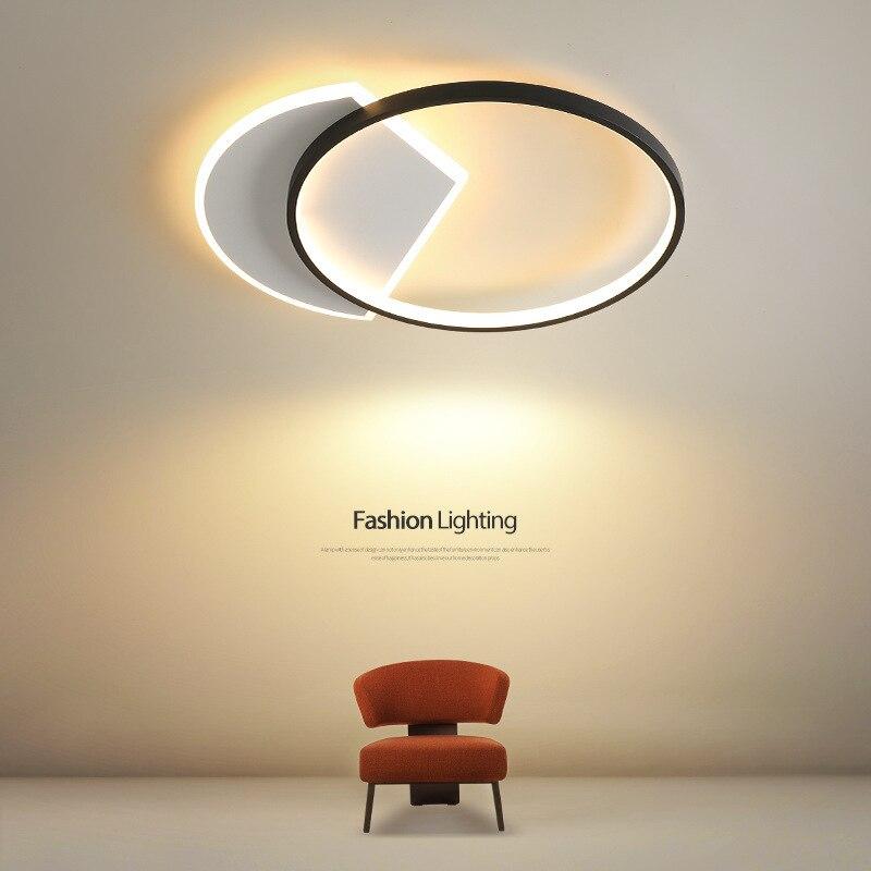 الحديثة Led الثريات تركيبات الإضاءة مصباح السقف داخلي لغرفة المعيشة غرفة نوم الطعام المطبخ بريق الذهب الأسود
