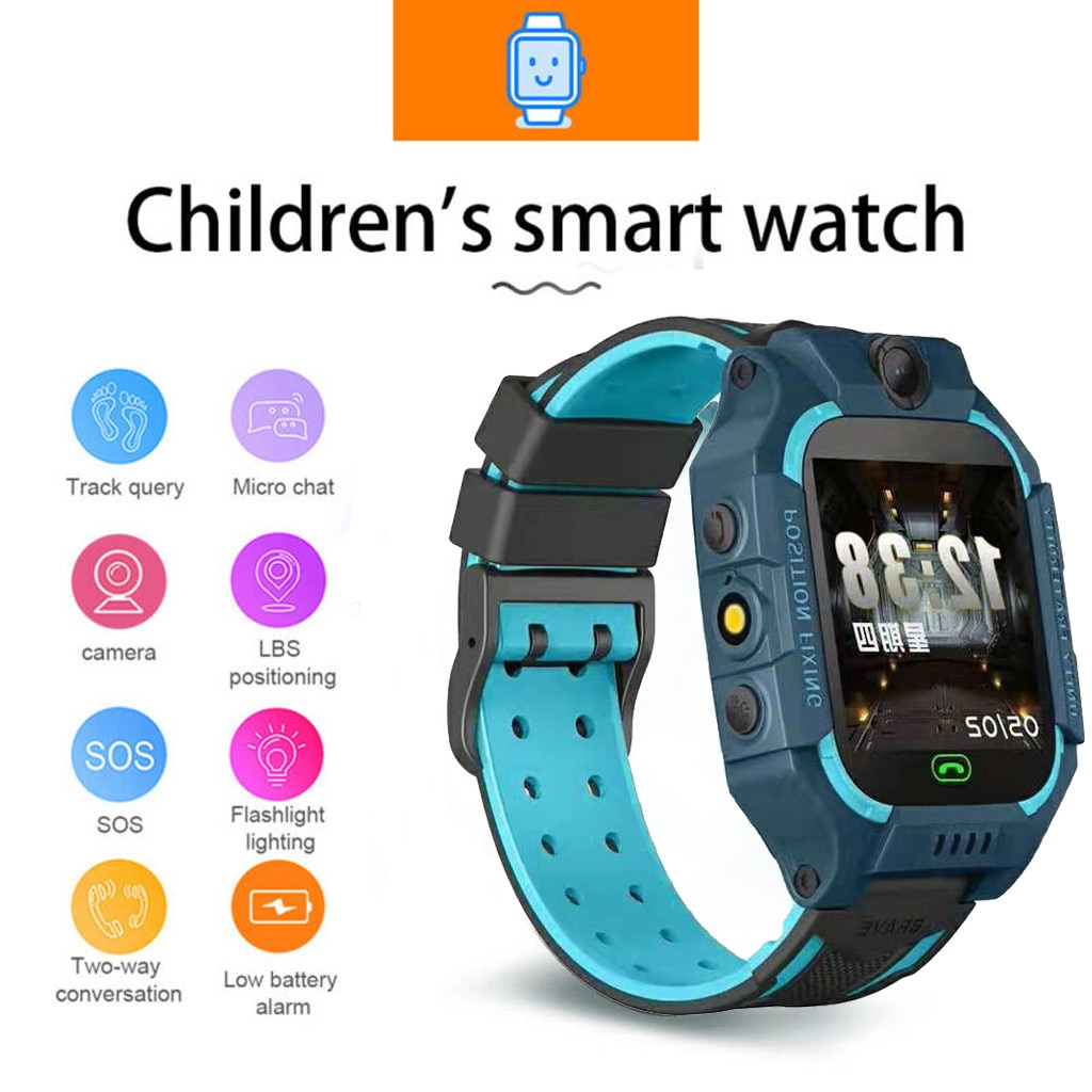 Children's Smart Watch Sos Phone Watch Smartwatch For Kids With Sim Card Photo Waterproof Ip55 Kids Gift For Ios Android #g