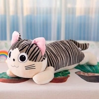 free shipping cheese cat doll plush toy cute kitten sleeping pillow cat toys for girls or children gifts kawaii pillows