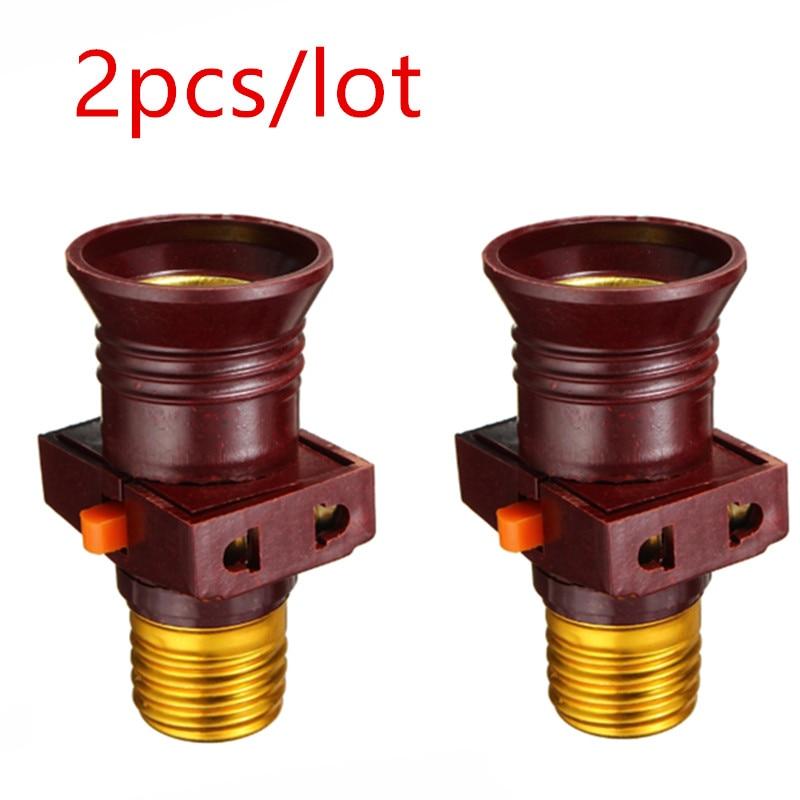 2 unids/lote 110-250V E27 Base de lámpara con tornillo bombilla de luz...