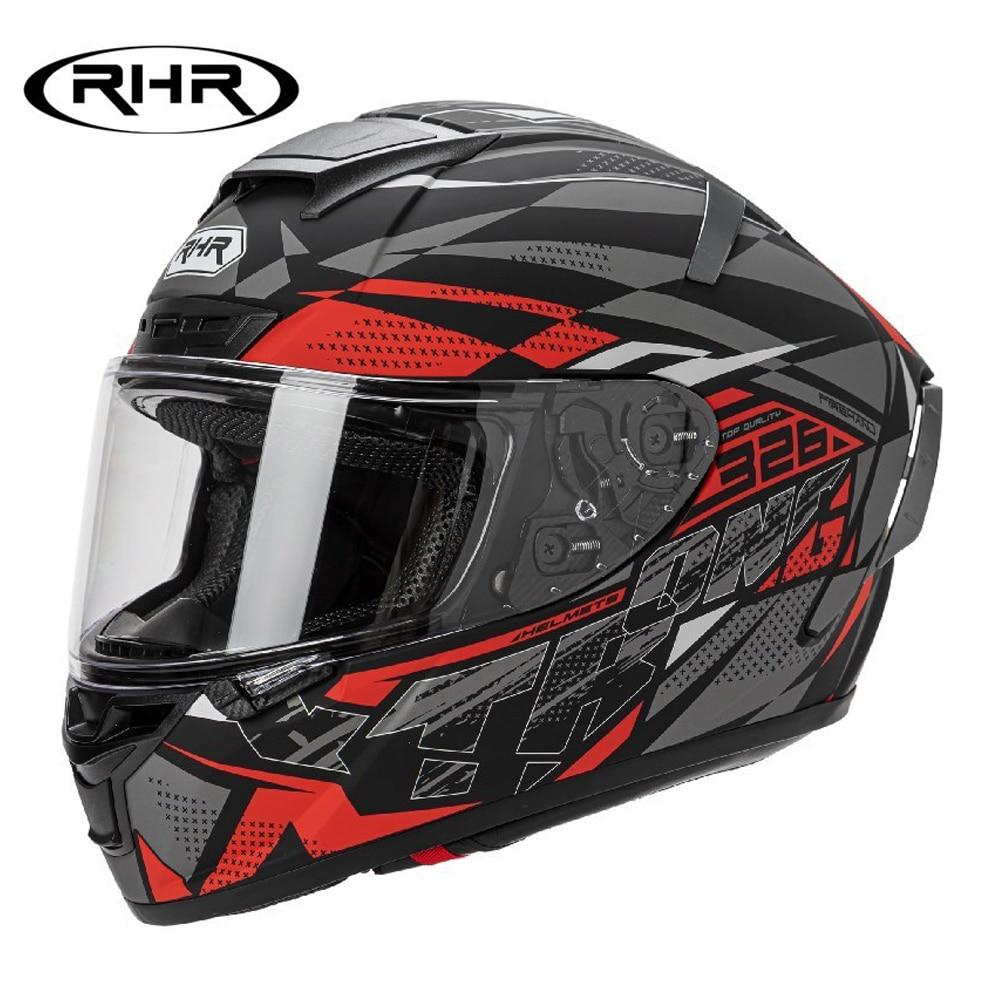خوذة دراجة نارية خوذة دراجة نارية تحطم دراجة نارية سباق موتو خوذة السائق كامل الوجه Helmets ECE DOT شهادة