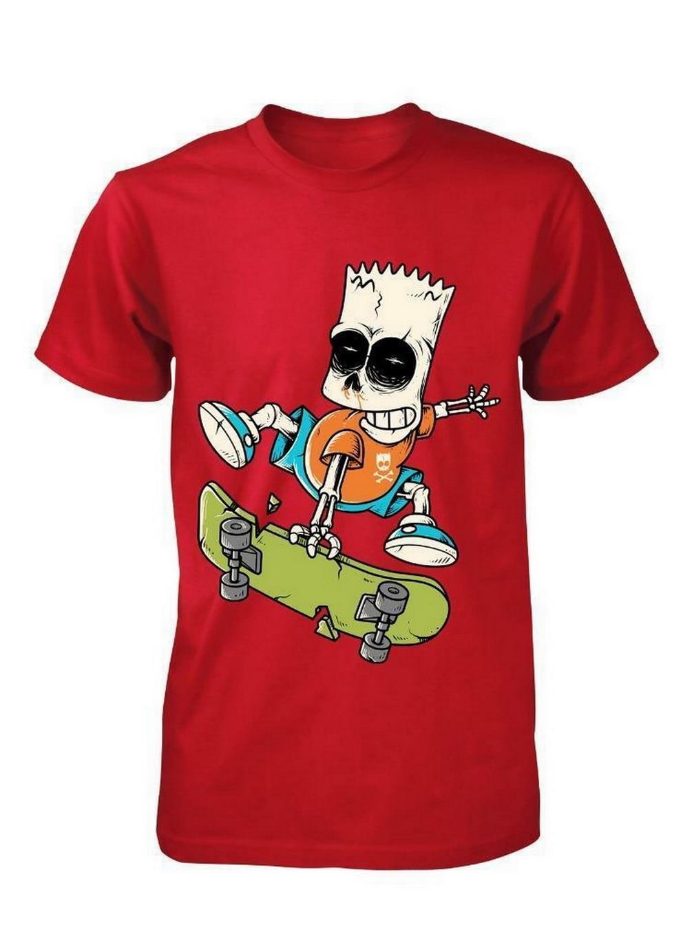 Camiseta divertida de patineta amante ZOMBIE BART SKATER de dibujos animados de HOMER camiseta para adultos S-XX Streetwear Tops camiseta