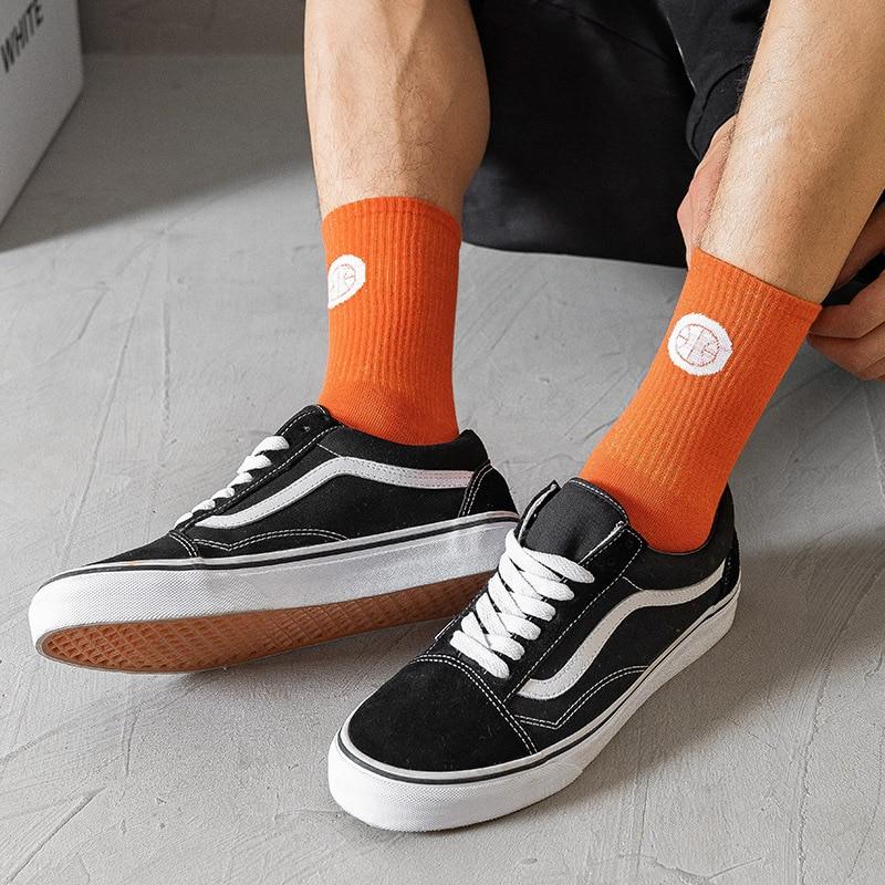 Ins Trendy JK Men's Basketball Sports Socks Street Skateboard Tube Socks Sweat-Absorbent Breathable Wild Fashion Couple Sox