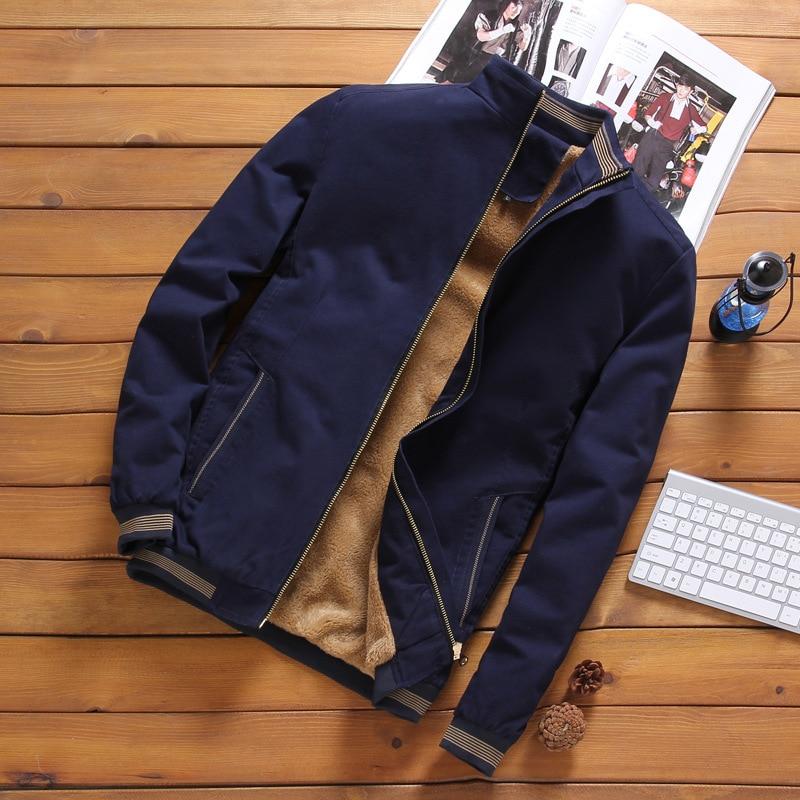 Chaqueta gruesa de lana abrigada para hombre 2020 Otoño Invierno para hombre cazadora cálido chaquetas informales Tops prendas de vestir exteriores para hombre M-5XL