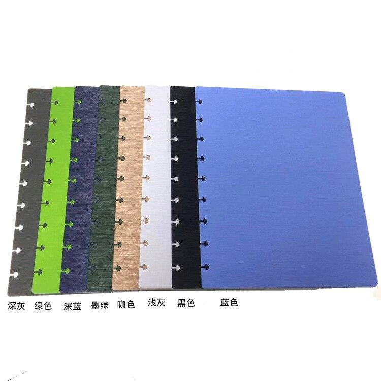Cubierta mediana del agujero de la seta 9 agujero del planificador medio Bloc de notas cubierta de los PP de repuesto para el cuaderno de hojas sueltas