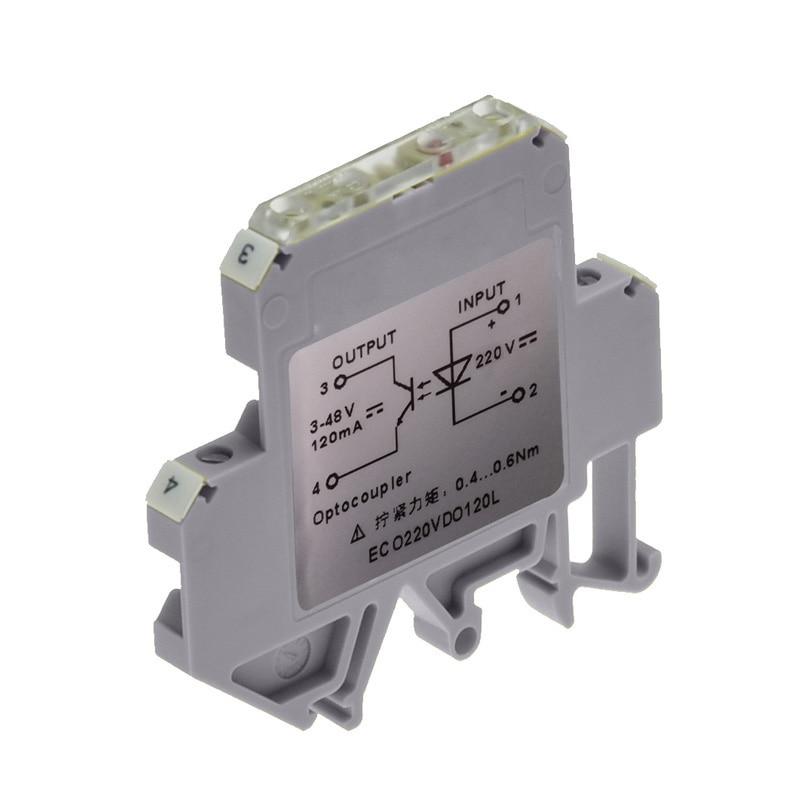Módulo optoacoplador carril ultrafino 220V AC y entrada de CC salida de 5-48V