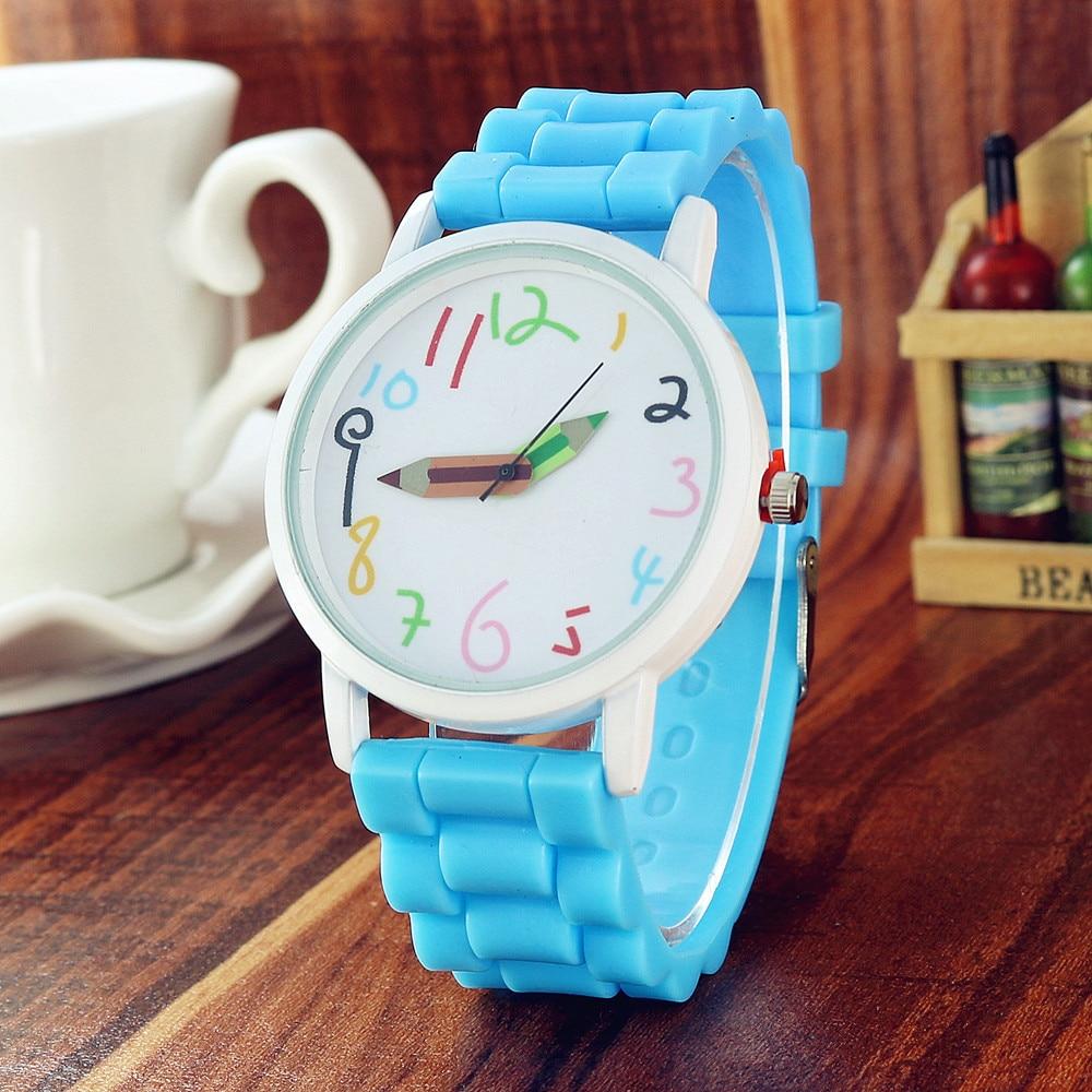New silicone watch fashion digital pencil pointer watch cartoon children watch