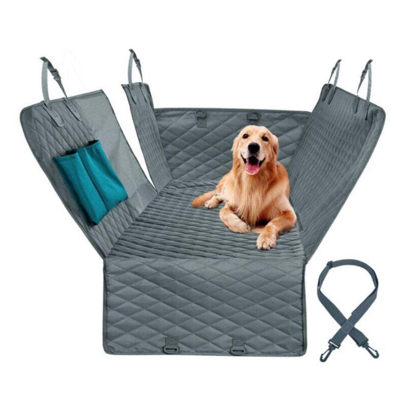 Protector para asiento de coche para perros ver malla impermeable trasera alfombrilla para asiento trasero hamaca de mascota Protector