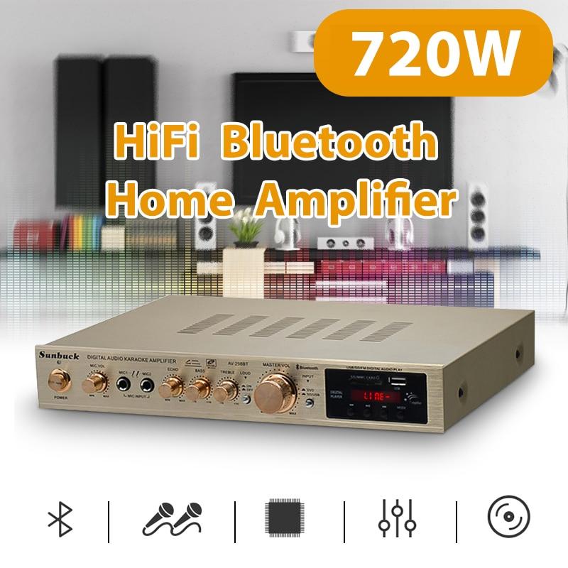 amplificador de potencia Amplificador de 720W 5,1 canales para cine en casa,...