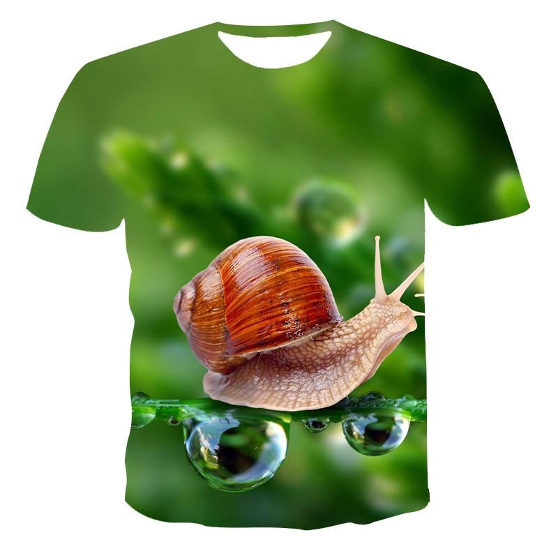 Men Clothing New Summer T shirt Men Streetwear Short Sleeve Tees Tops Beautiful Male Clothes Casual  3D Print The snail T Shirts