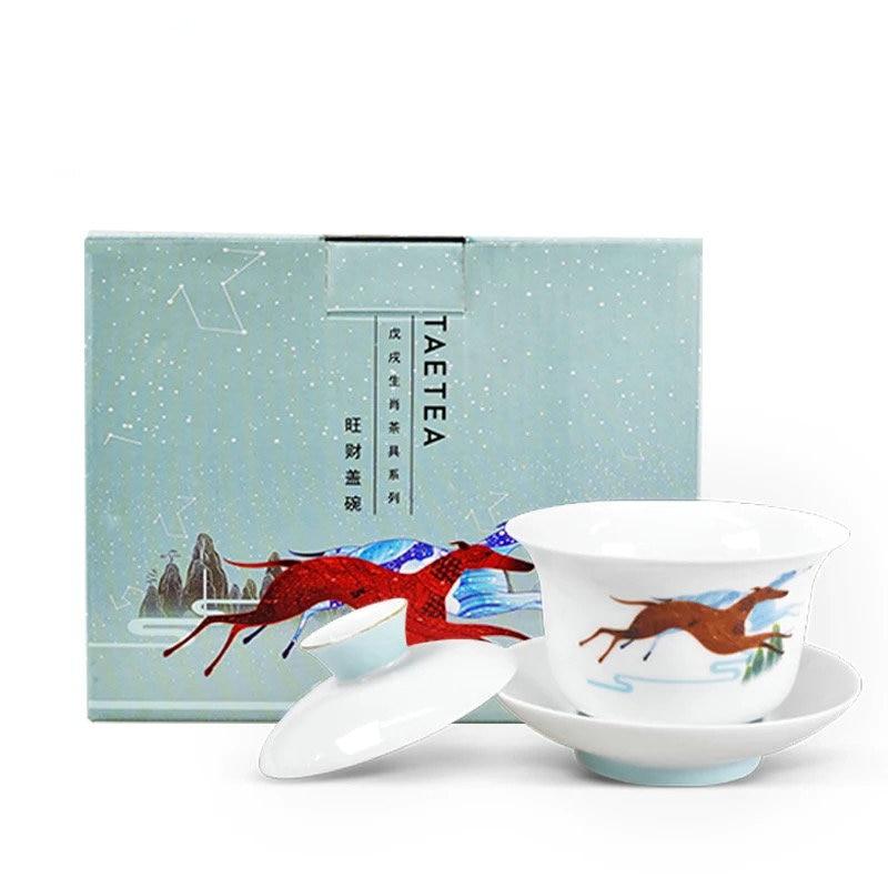 الشاي سلطانية TAETEA GaiWan الشاي كأس الخزف دايى