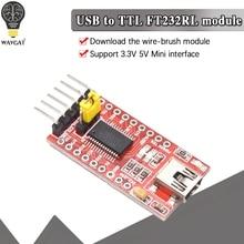 WAVGAT-Módulo adaptador de serie FT232RL FTDI USB 3,3 V 5,5 V a TTL para Puerto Arduino FT232 Mini. Compre una buena calidad, por favor, elíjame