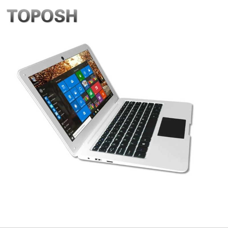z8350 10.1'' Mini Laptop 4G RAM 64G SSD Windows 10 Pro Netbook Small Notebook Laser Engraved Keyboard Language Green PC Computer