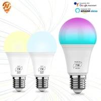 Ampoule Led E27  lampe intelligente  Bluetooth  7W  controle via application  fonctionne avec Alexa Google Assistant  pour maison