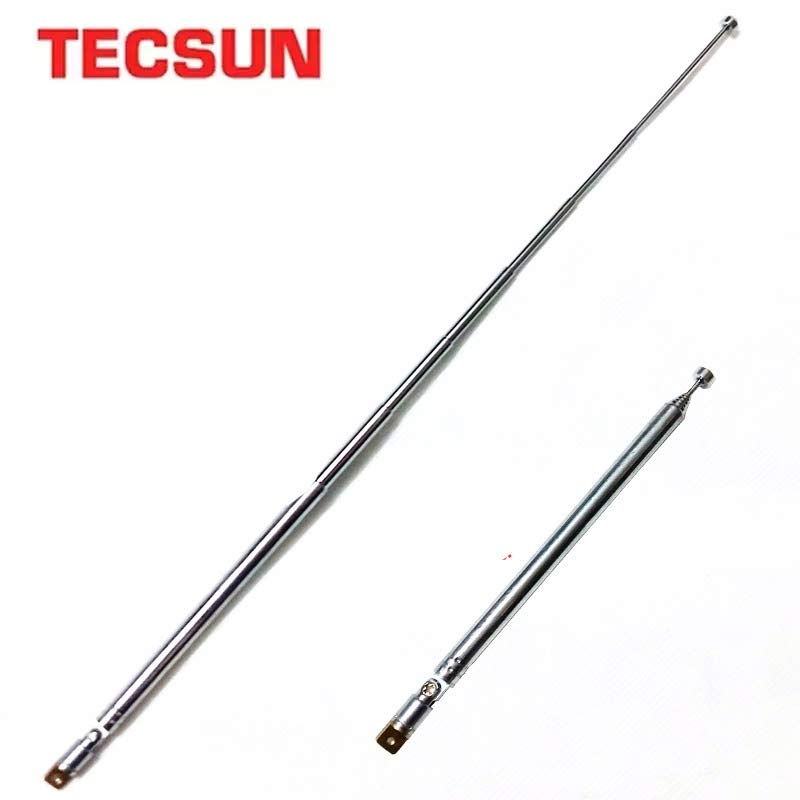Tecsun Оригинальная антенна Замена радио стальная штыревая антенна PL-660 PL-600 PL-310 PL-380 R-9012 PL-360 D-808 PL-880 антенна S-2000