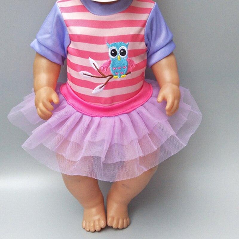 Ropa para muñeca se adapta a 43 cm baby doll Vestido corto muñeca de cumpleaños para niños