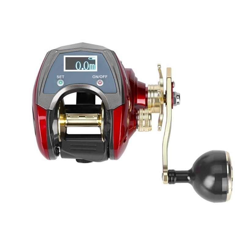 New Display Digital Electronic Fishing Reel Water Depth Measurement High Speed Profile Line Counter Baitcasting Reels Fishing enlarge