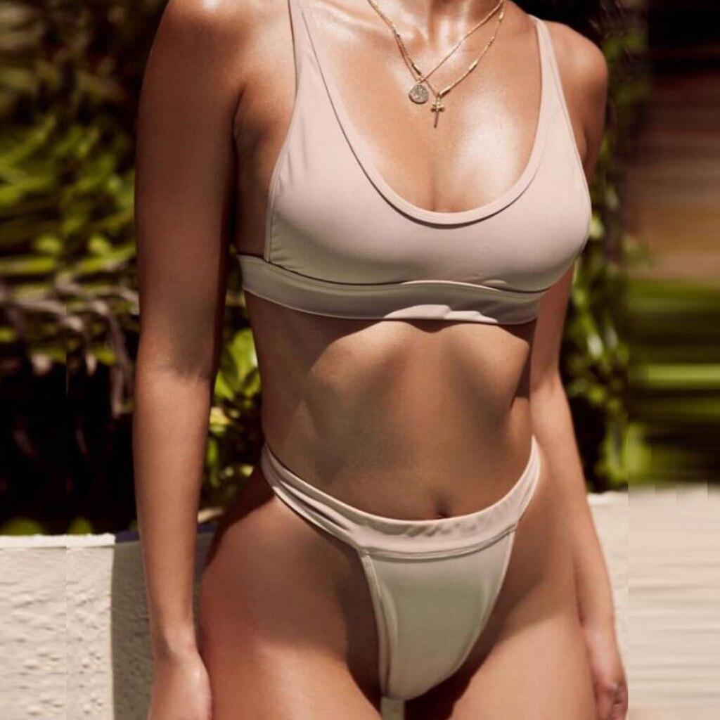 Conjunto de Bikini de dos piezas para mujer, traje de baño Sexy,...