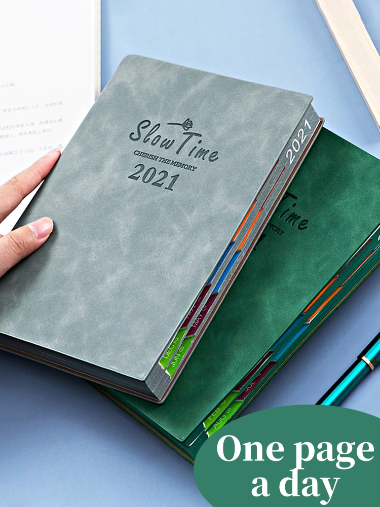 Agenda 2021 Planner Organizer A5 Diary Notebook And Journal Office Notepad Fashion Weekly Monthly Calendar Daily Plan Note Book 2021 planner agenda organizer a5 diary plan notebook and journal office note book weekly calendar daily schedule school notepad