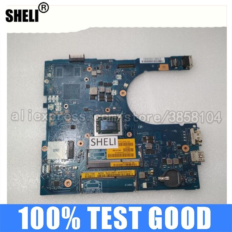 SHELI para Dell 5455 5555 5755 Motherboard com A10-8700P LA-C142P CN-0GD4HR 0GD4HR GD4HR DDR3 Inspiron Intel Integrated