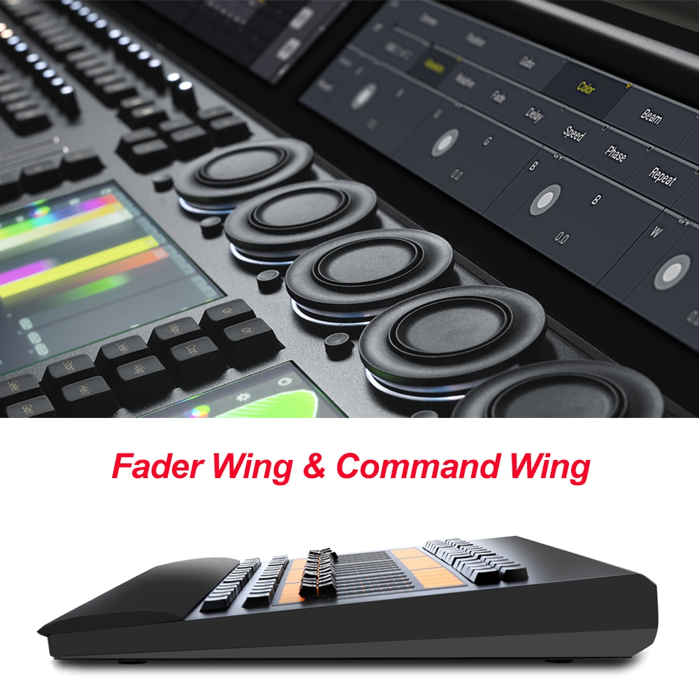 جهاز التحكم في الضوء بتأثير المسرح الاحترافي M a ، وحدة التحكم في جناح القيادة مع حقيبة طيران للحفلات ، ديسكو KTV ، معدات DJ