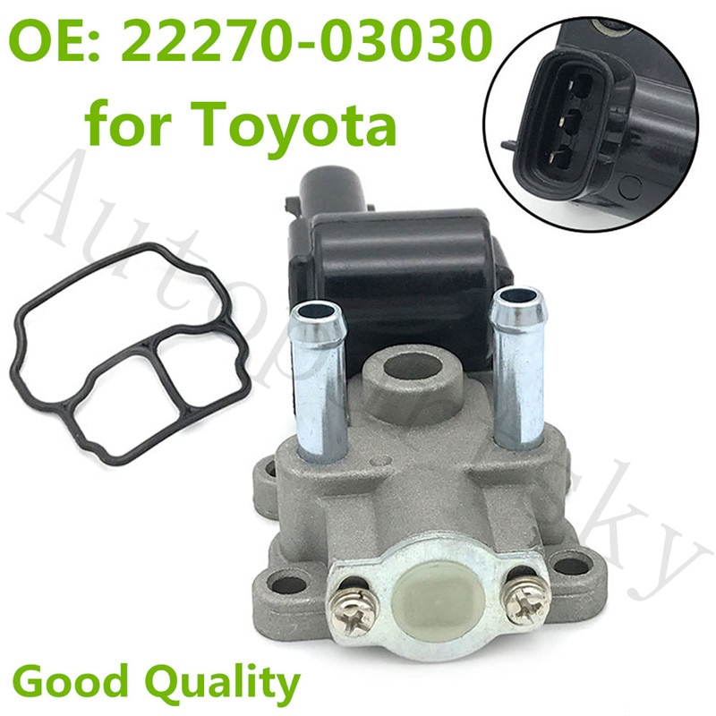 Remanufacturados Válvula de Control de aire en reposo para Toyota Camry 00-96 Solara 2000 4Cyl 2.2L OEM #22270-03030, 2227003030 2H1352 IACV194