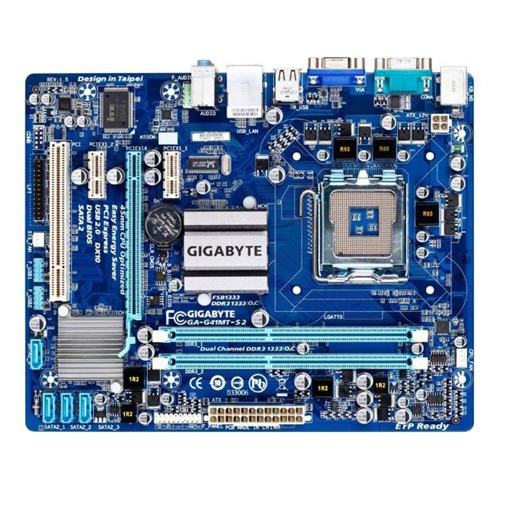 Оригинальная Материнская плата Gigabyte GA-G41MT-S2P 1,5 V DDR3 DIMM Socket 775 десктопная материнская плата