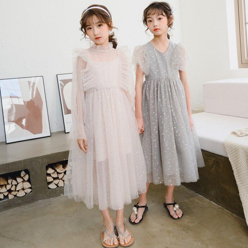 فستان الأميرة للفتيات الصغيرات ، من 4 إلى 16 سنة ، مجموعة ربيع وصيف 2021 الجديدة ، فستان طويل ماكسي ، دانتيل ، #5579