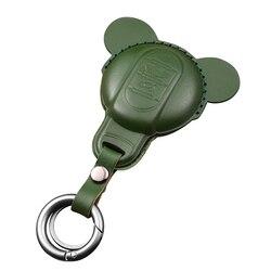Saco chave de couro do carro caso capa chaveiro protetor decoração para mini cooper um jcw f54 f55 f56 f57 f60 countryman acessórios