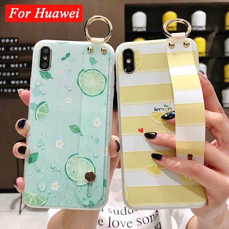 Limón teléfono caso Coque Huawei P30 Pro P20 P30 Lite amigo 20 Pro P Smart Plus estuche fruta naranja TPU pulsera cubierta Funda